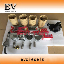 For Mitsubishi Forklift  S4E S4E2  Piston and piston ring and S4E engine bearing gasket kit water oil pump