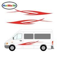 HotMeiNi Car Sticker 2x Stripes Decal Truck Vehicle Motorhome Caravan Body Accessories Travel Trailer Camper Van 200CM*26CM