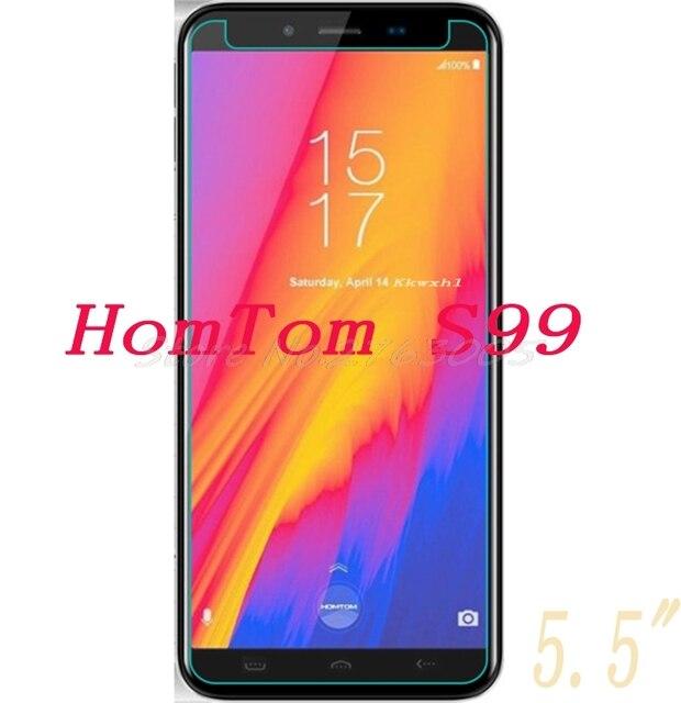 """2 piezas nuevo Protector de pantalla para HomTom S99 5,5 """"Vidrio Templado cubierta protectora de la película del teléfono inteligente"""