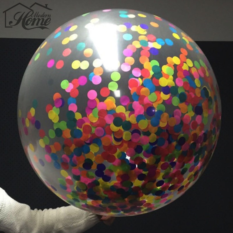 18 Inch Colorful Confetti Filled Balloons Air Balls Party Wedding Decorations Holiday Valentines Day Celebration Air Balloons