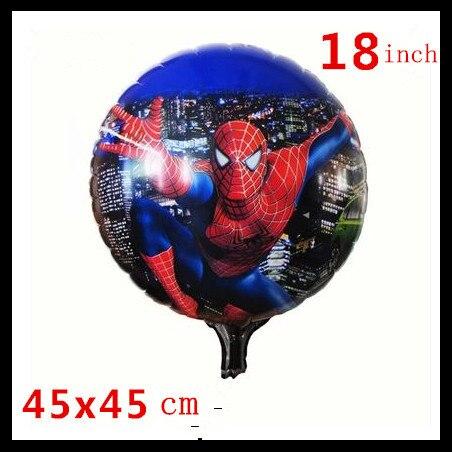 1pcs 18inch Cartoon Birthday Balloons Foil Round Balloons Children Gift Birthday