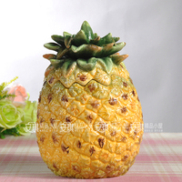 Ceramic Pineapple Candy Biscuits Storage Bottles Tea Jars Home Decor Craft Room Wedding Decoration Handicraft Porcelain