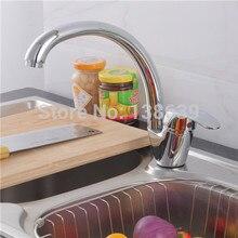 360 градусов rorating латунь польский хром кухня кран и холодная вода миксер затычка, Misturador Monocomando Cozinha