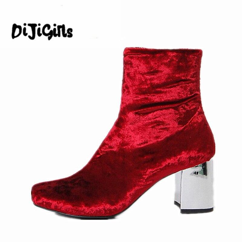 Les étudiants frais cool boots, talon en tissu carré, les femmes sandales, bottes,Black,42