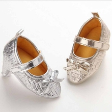 Newborn Baby Girl High Heels Soft Sole Toddler Bowknot Princess Leather Shoes Party