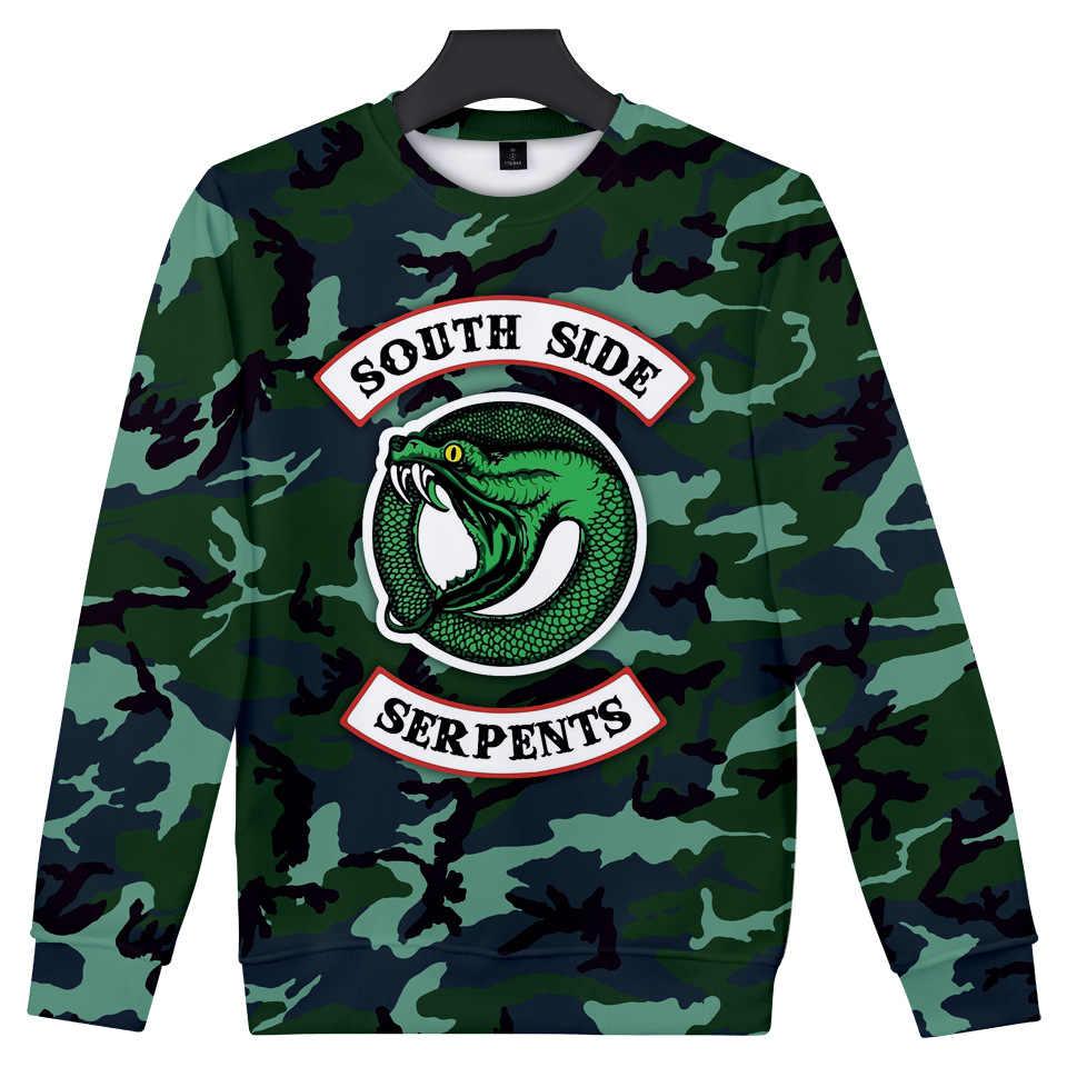 3D Printed T Shirt Southside Riverdale tshirt Men Women Harajuku South Side Serpents T Shirt Streetwear Clothes