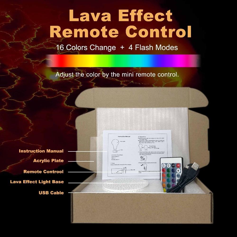 8 lava effect remote control