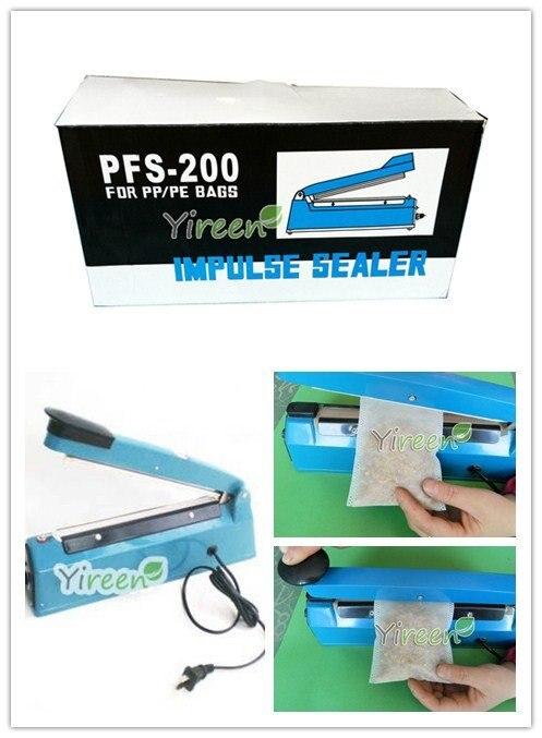 Free Shipping! Professional Heat sealing machine, Hand Impulse Sealer for sealing PE / PP Bags, TEA/COFEE BAGS Plastic casing