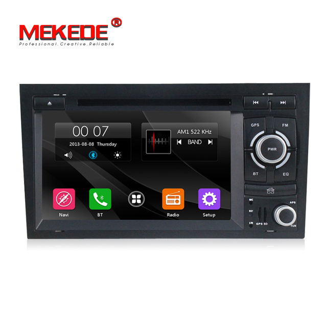 2 Din 7 inch Car DVD Multimedia Player for Audi/A4 2002-2008 Canbus with GPS Navigation Radio AM FM USB RDS USB Free 8G maps