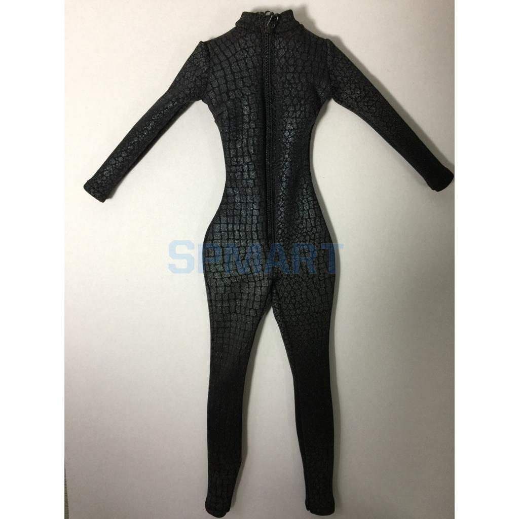 1//6 Reißverschluss Catsuit Overall Kleidung Outfit für 12 /'/' Phicen Kumik