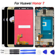 For HUAWEI Honor 7 Display Touch Screen Digitizer Frame for Honor7 Replace 4G LTE  LCD Huawei