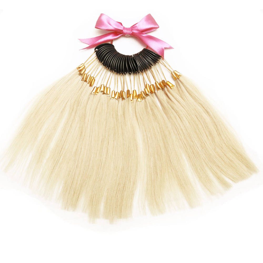 7inch Virgin Human Hair Color Ring 300pcs For Salon Hair Color Chart