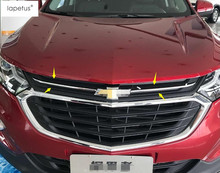 ABS ! Accessories For Chevrolet Equinox 2017 2018 Front Head UP Grille Grill lid Decoration Molding Cover Kit Trim 2 Pcs / Set