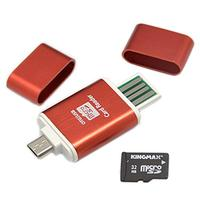 2 in 1 Mini Portable Micro USB SD SDXC SDHC TF OTG Card Reader Adapter Phone Card Reader for Samsung S3 S4 Office & School Supplies