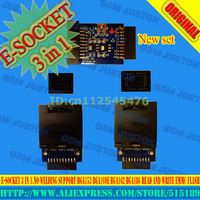 E SOCKET 3 in 1.No welding Support BGA153 BGA169E BGA162 BGA186 read and write eMMC Flash work with jtag box Free Shipping|Phone Adapters & Converters|Cellphones & Telecommunications -