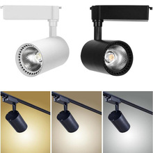 Track Light Rail Spot 30W COB LED Ceiling Spotlight For Clothes Shoes Shop Store Showroom Mall Exhibition Fixture Track Lighting led track light track lighting cob 15w 20w 30w 36w clothing shop windows showroom exhibition spotlight ceiling rail spot lamp