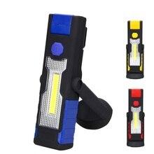 3 цвета Многофункциональный USB Перезаряжаемые УДАРА светодиодный свет работы 3 Вт Магнитный Открытый Палатка огни Магнитный Портативный
