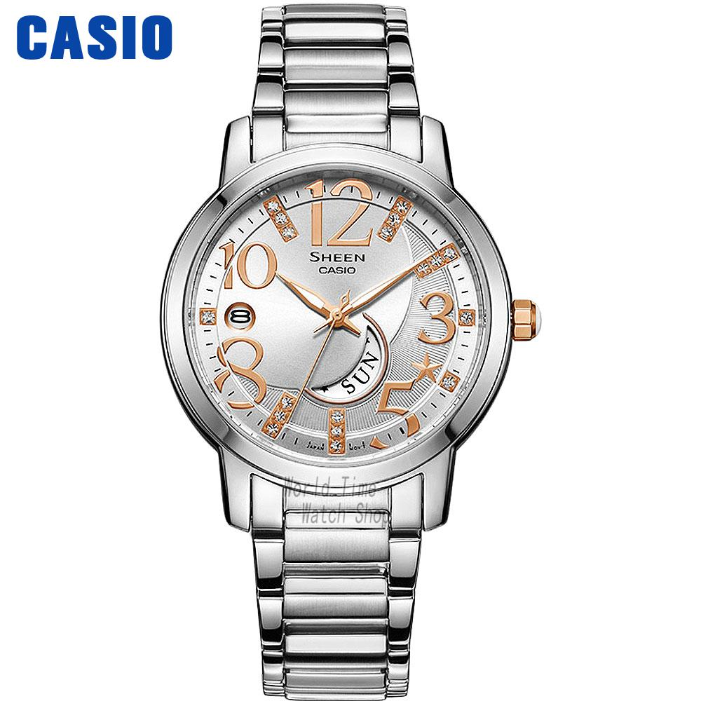 Casio watch Casual fashion simple business waterproof strip ladies watch SHE-4028D-7A SHE-4028L-7A SHE-4029DA-7A SHE-4029PGL-7A casio watch fashion casual quartz needle steel watch ltp 1359rg 7a ltp 1359sg 7a