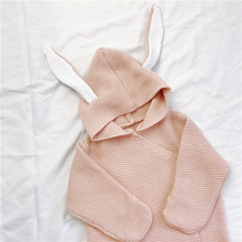 Milancel Baby Blankets Newborn Knitted Baby Covers Rabbit Ear Swaddling Baby Wrap Photography Bunny Style Swaddle Wrap