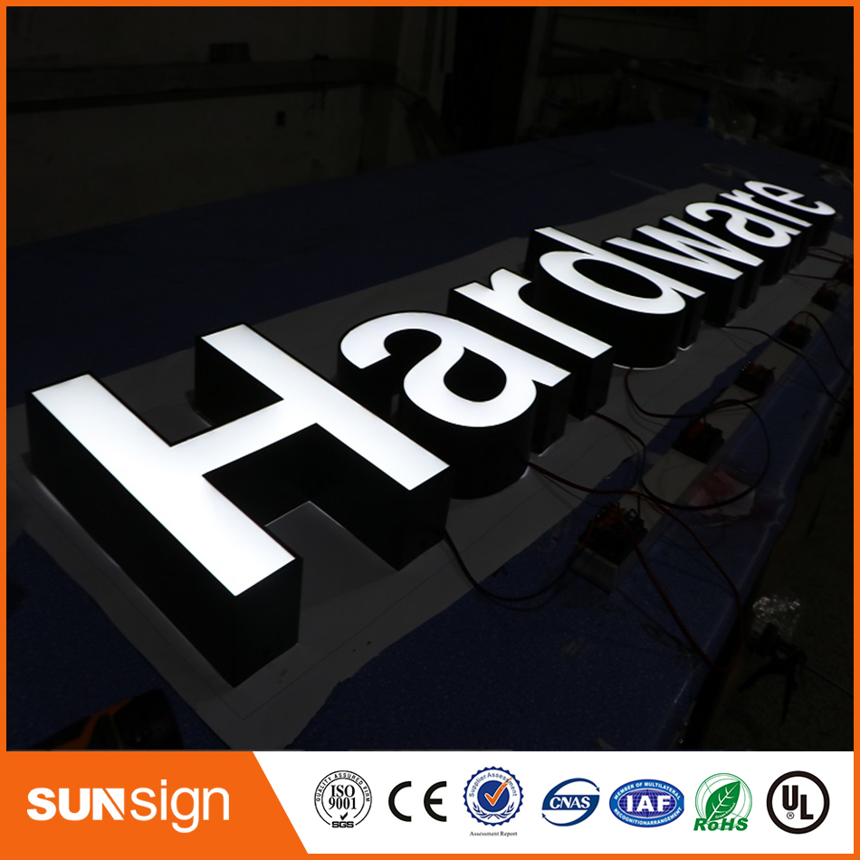 Front-lit Stainless Steel Led Channel Letter Sign For Store