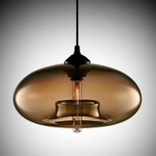 Primo Industrial Factory Pendant Lamp Antique One-Light Fixture with Glass Shade Led Light Shade For kitchen Island Foyer nobulb
