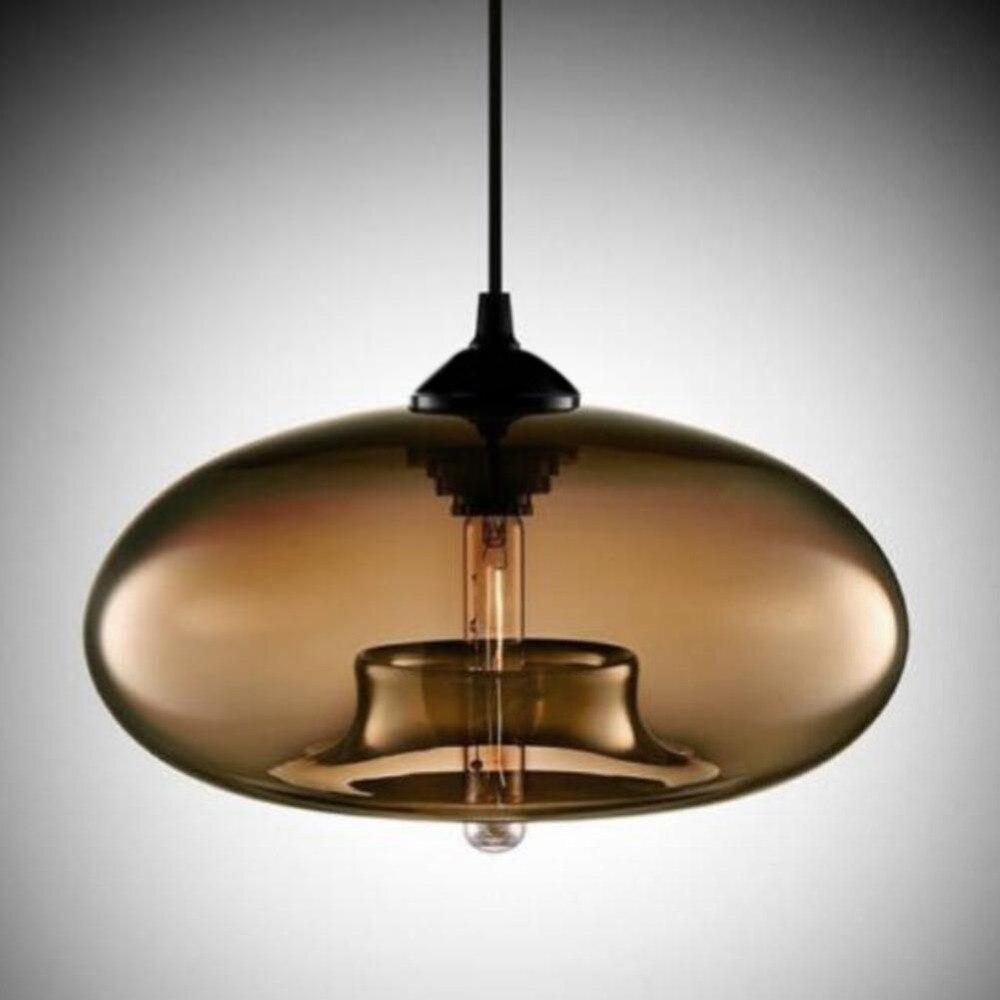 Primo industrielle fabrik pendelleuchte antike one leuchte mit glasschirm led licht schatten für küche insel