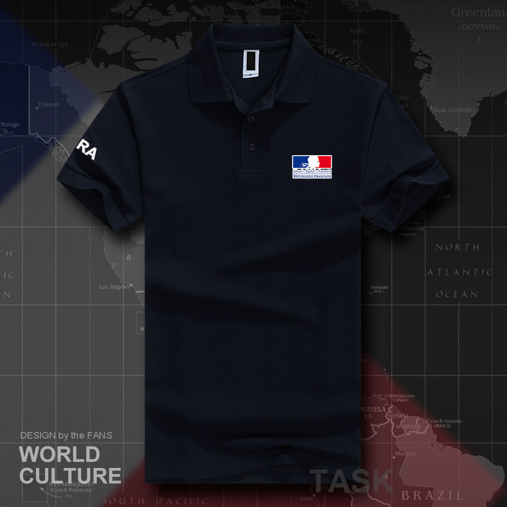 France French Republic FRA FR   polo   shirts men short sleeve white brands printed for country 2018 cotton nation team casual 20