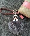 Карл монстр помпонное мяч мешок ошибки сумка CharmKey фасонной автомобиль шкентель мешка женщина аксессуары новое натуральной кожи лисицы