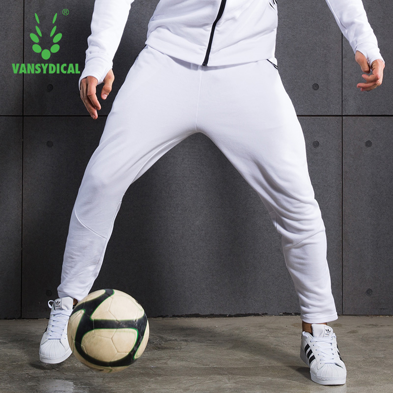 VANSYDICAL Sports Sweatpants For Men Warm Running Jogging Pants Fitness Training Football Pants Breathable Pants Sports Trousers new 2018 men outdoor running sports pants striped full length leisure sport trousers comfortable breathable sweatpants
