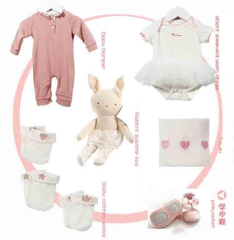 купить Baby girls spring/fall sets 6 pieces summer tutu wear kids Rabbit toy clothing autumn short sleeve wear  BC506DS-77 BRAND по цене 3386.41 рублей