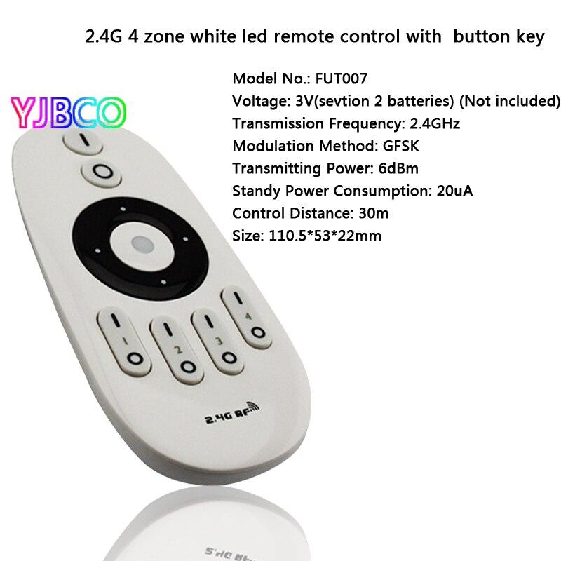 Купить с кэшбэком 5w 6W 9W GU10 E27 Milight LED Dual white bulb base lamp CCT AC85-265V & FUT006 FUT007 2.4G 4Zone led Remote control dimmer