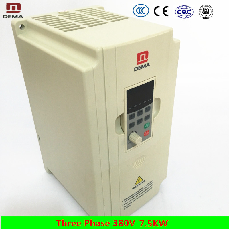 DEMA High Power 7.5KW Three Phase 380V Input DC/AC input Varaible Frequency Drive Solar Water Pump Inverter VFD VSD Converter