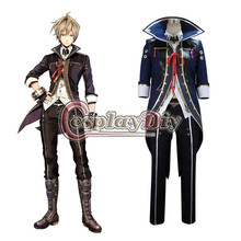 God Eater 2 Outfit Julius Visconti Uniform Outfit Jacket Pants Costume Cosplay for Halloween Carnival Party D0915