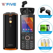 """SERVO R25 2,"""" две sim-карты 6000 мАч Внешний аккумулятор мобильный телефон с Bluetooth 5,0 TWS беспроводные наушники музыкальный динамик мобильный телефон"""