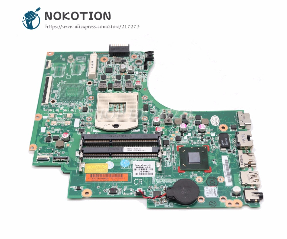 NOKOTION For HP 15-D 240 G2 246 G2 Laptop Motherboard HM76 UMA DDR3 763541-601 763541-001 MAIN BOARD 747262 001 for hp 240 246 g2 14 d series laptop motherboard p n 010194g00 35k g hm76 mainboard rpga989 100
