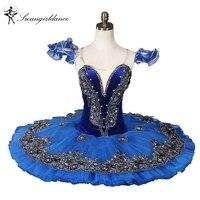 Бархат синий балетные костюмы пачки Черный лебедь классическая балетная пачка professional Балетная пачка для performanceBT8973