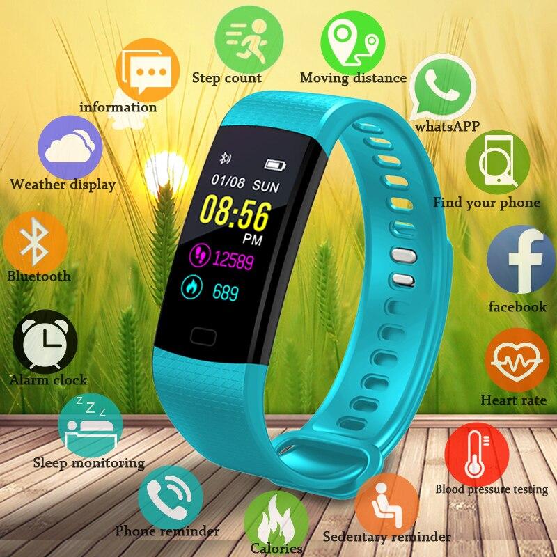 BANGWEI nouvelle annonce podomètre de sport hommes femmes sport bracelet sommeil rappel sang pression d'oxygène smart monitoring bracelet