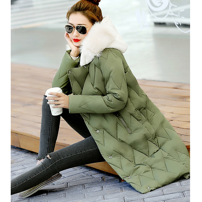 2017 NEW HOT SALE WAVE WOMEN WINTER JACKERS X-LONG HOODED THICKEN WARM FEMALE PARKAS SLIM OVERCOAT HIGH QUALITY ZL455