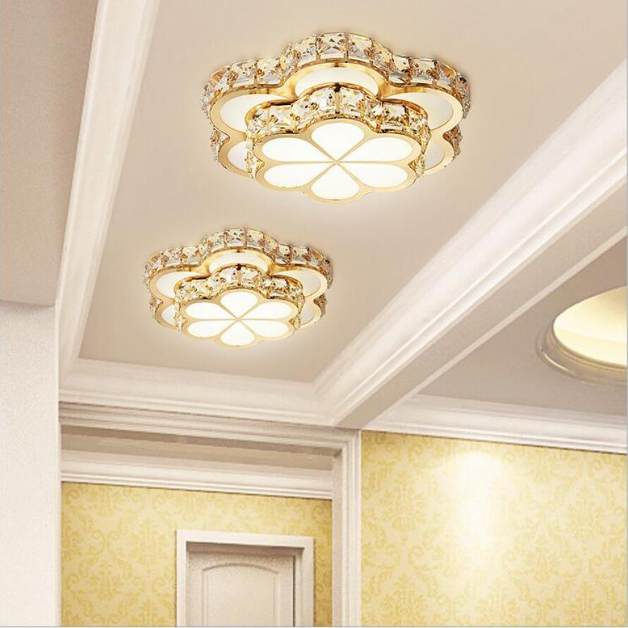 Luxurious led K9 crystal Ceiling Lights led lamps Gold living room led Ceiling lamps High power