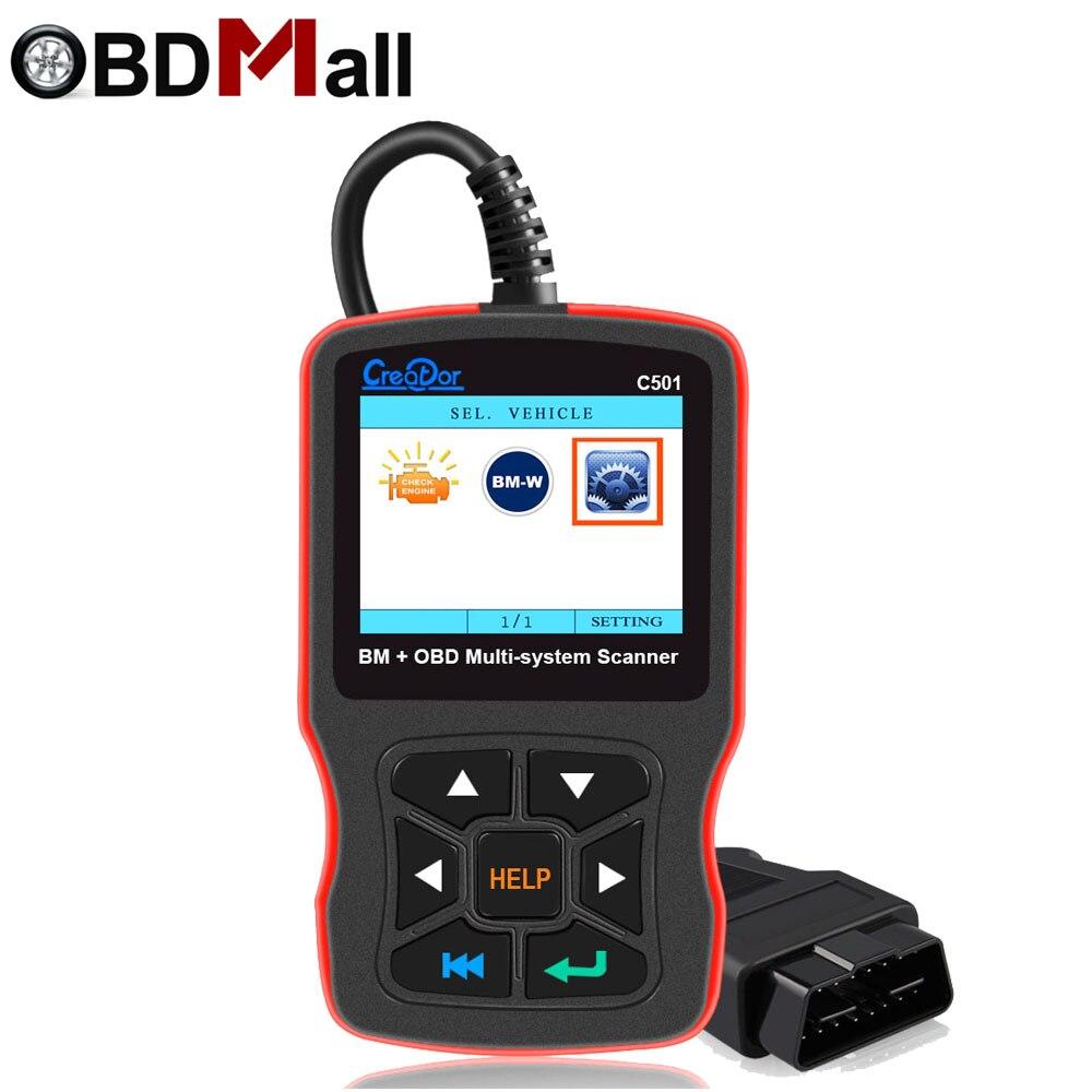 Créateur C501 pour BMW OBD2 Auto Diagnostic Scanner Complète Du Système Scanner OBD II EOBD Fonctions Outil De Diagnostic pour BMW E46 e39 E90
