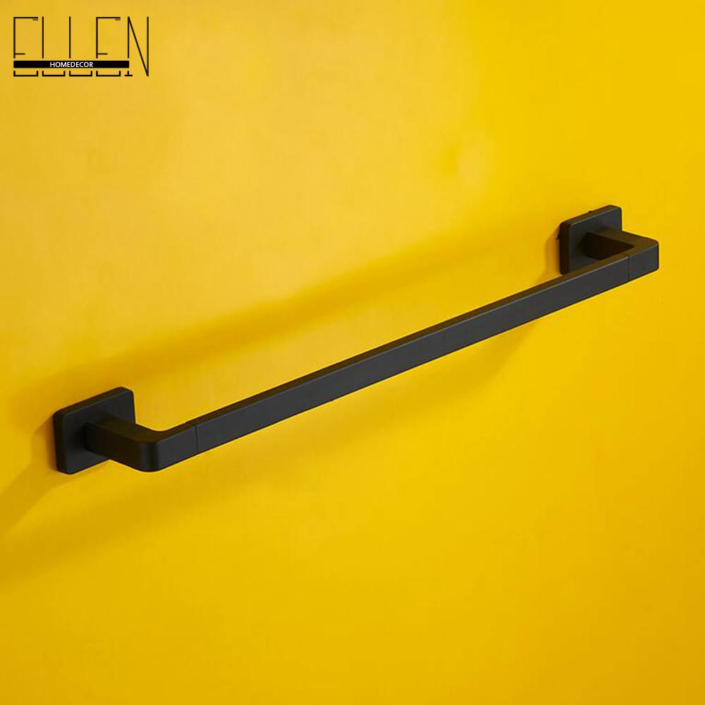 Black Square Bathroom Single Towel Rack Towel Bar Rubble Bronze Finished lengthened thickening bathroom towel bar single lever rack free nail
