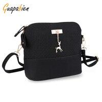 Solid Color Mini Girls Handbags Shell Shape Leather Plaid Small Clutch Phone Bag Kawaii Shoulder Messenger