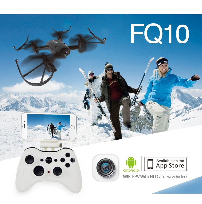 FQ777 FQ10 WiFi Drone with 720P Camera RTF 6-axis Gyro 2.4GHz Mini Pocket Drone FPV RC Helicopter F18047/ F18253 yuneec typhoon h 5 8g fpv drone with realsense module cgo3 4k camera 3 axis gimbal 7 inch touchscreen rc hexacopter rtf