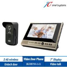 Kivos KDB700 Wireless Intercom System 7″ Video Fone Intercom With Recording Camera Support Unlock Door Remotely