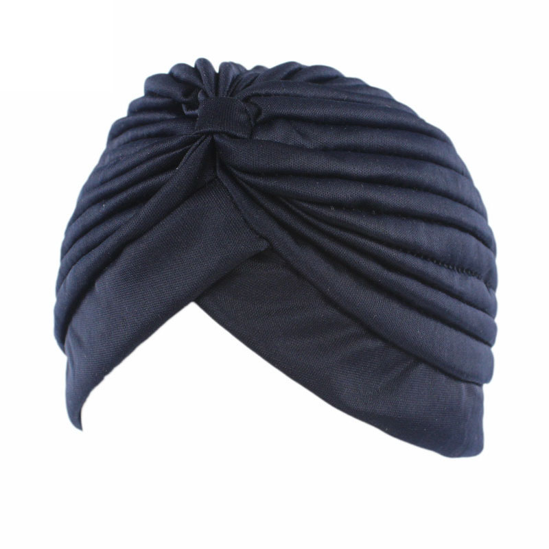 Quality In 11color Solid Muslim Turban Cap Women Elastic Stretchy Beanies Hat Bandanas Big Satin Bonnet Indian Women Holiday Turban F0239 Excellent