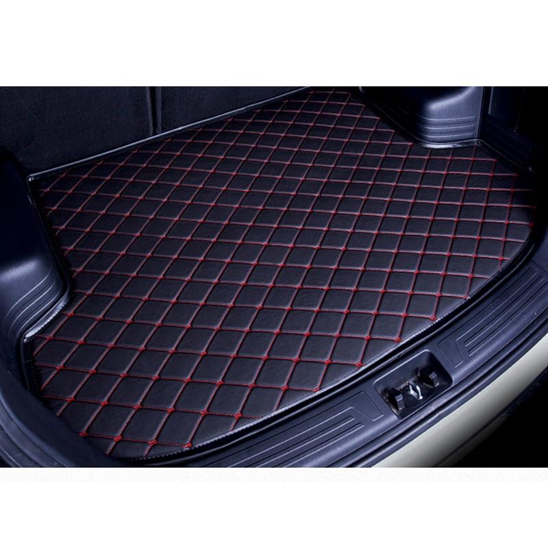 custom car trunk mat for Peugeot 205 206 207 2008 3008 301 306 307 308 405 406 407 car accessories styling cushion trunk pad custom leather car seat cover for peugeot 205 206 207 208 306 307 308 309 405 406 407 408 505 508 car styling car accessories