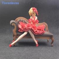 Aquamarine Fate/EXTRA Encore Nero Action Figure Claudius Caesar Augustus Germanicus Idol Emperor Toys Model Anime Fate Doll PG