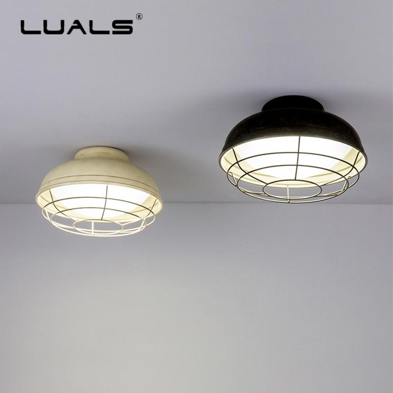 Vintage Industrial Loft Style Ceiling Fixtures Retro Lamp: Nordic Ceiling Lights Iron Vintage Ceiling Lamps Loft