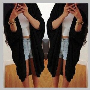 Standard Womens jackets and coats new fashion spring coat bat cardigan shirt jacket Open Stitch