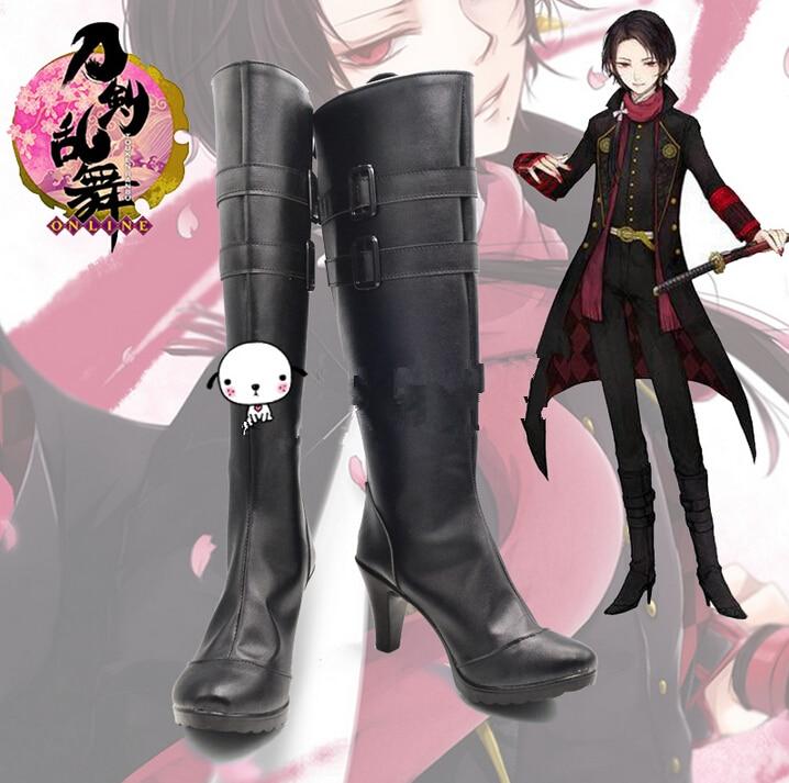 Аниме toukenranbu Обувь Touken Ranbu онлайн kashuu kiyomitsu ботинки для костюмированной вечеринки
